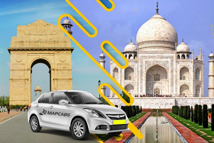 Delhi to Agra Cab, Delhi Outstation Cabs, Mapcabs